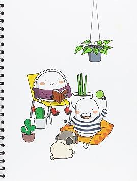Libreta con diseño Croqueta y empanadilla, formato A4 ...
