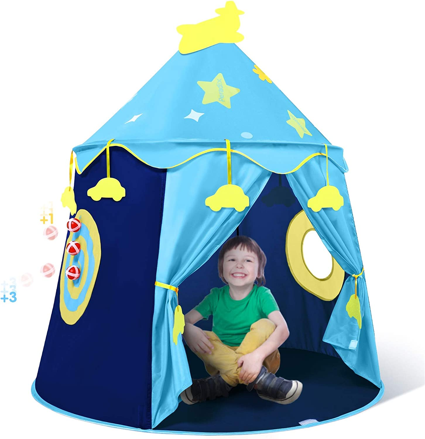 BOYS KNIGHT CASTLE PLAY TENT LIGHT WEIGHT AND EASY TO ASSEMBLE FUN BOY GIFT NEW