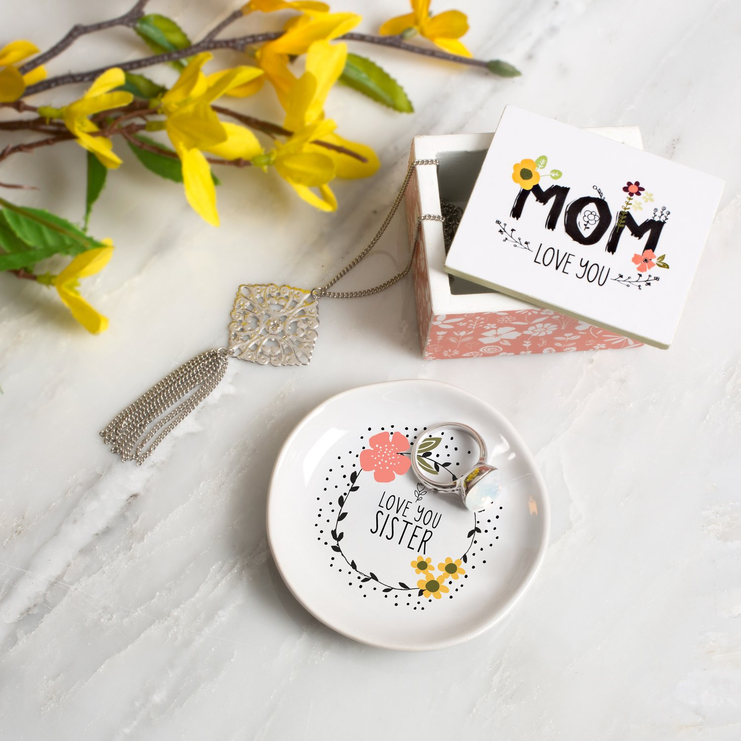 Love You More by Amylee Weeks Mini Jewelry Dish Love You Sister