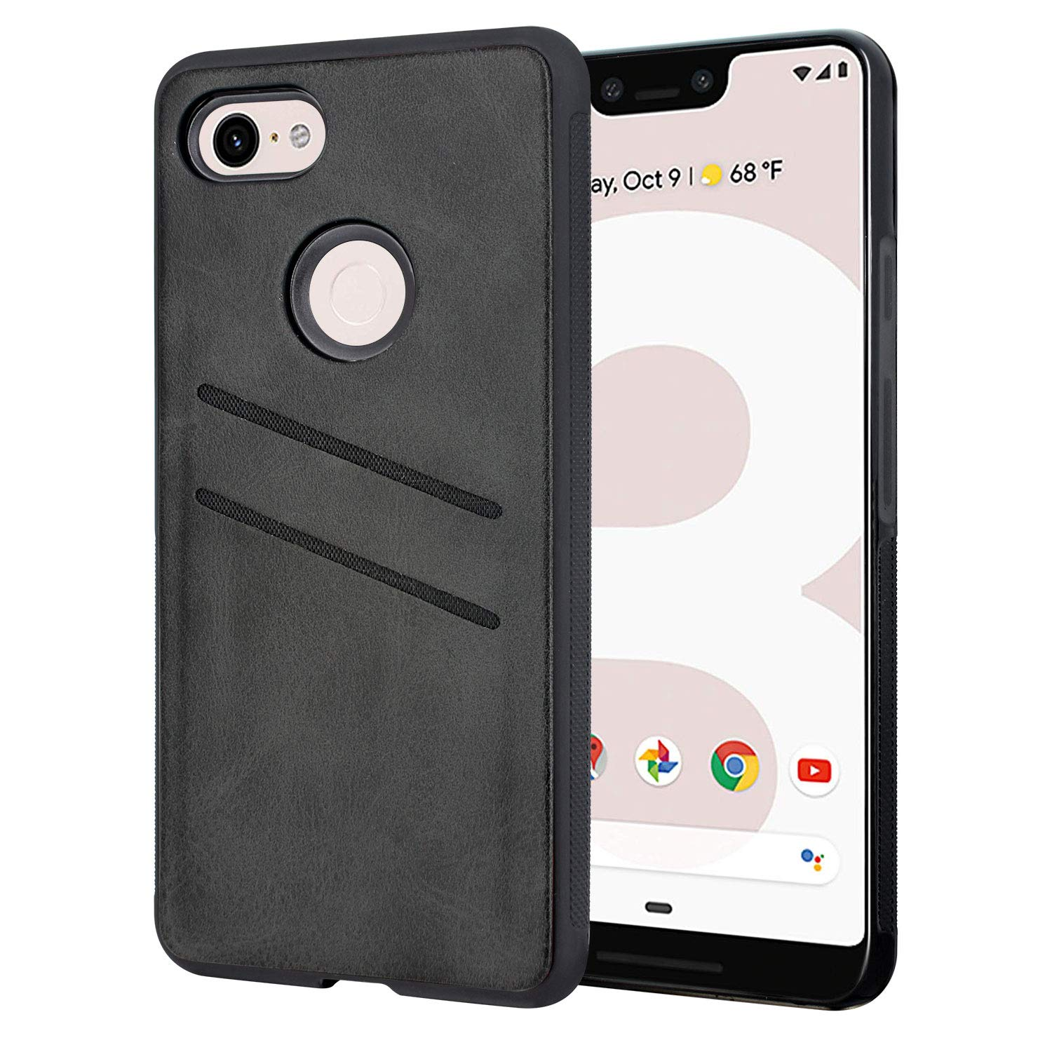 newest fbfee 84869 Google Pixel 3 XL Card Holder Case, Harryshell Shockproof Slim Armor  Leather Wallet Case Cover with ID Credit Card Slot for Google Pixel 3 XL  (2018) ...