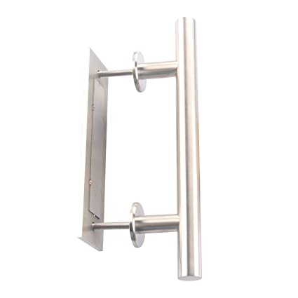 Shile 12 Inch Stainless Steel Rustic Barn Door Hardware Handle Set