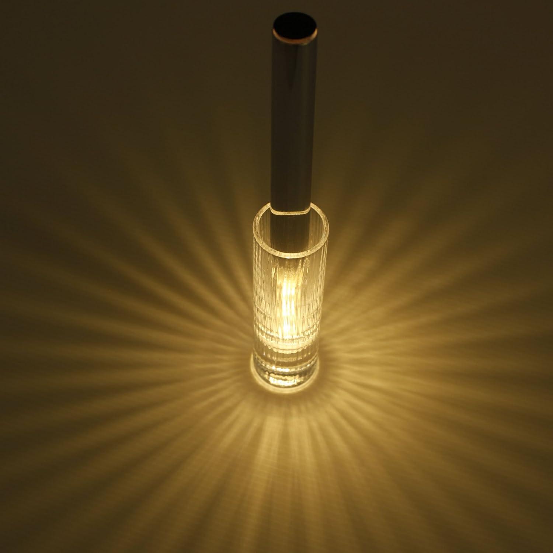Kvel (クベル) - 音を使って「光の花」を咲かせる LEDキャンドルライト - 本体 + 専用グラスセット (Sghr) B0745BS1HF 19440  シルバー 本体 + 専用グラスセット (Sghr)