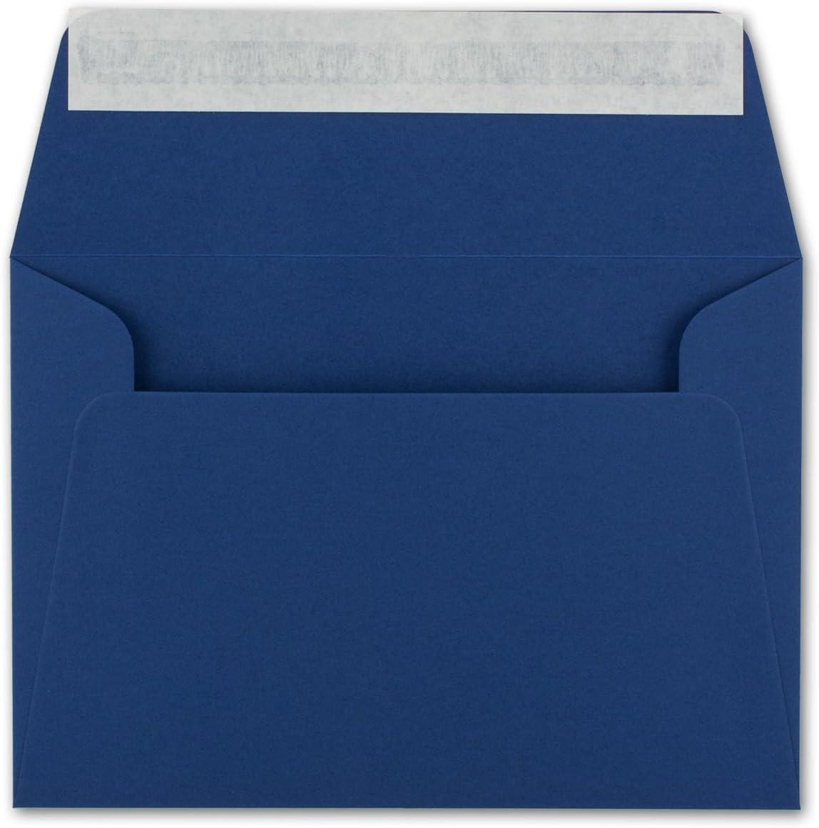 Enveloppes Neuser DIN C6-162 x 114 mm 50 Umschl/äge bleu nuit