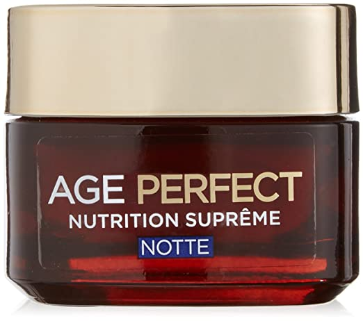 13 opinioni per L'Oréal Paris Age Perfect Nutrition Supreme Crema Viso Riparatore Notte, 50 ml