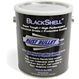 Rust Bullet BSG BlackShell Rust Preventive and Protective Coating Paint, 1 Gallon Metal Can, Gloss Black