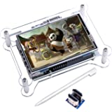 Kuman 3.5インチ 小型 HDMI モニター ラズベリーパイ3 b タッチスクリーン ディスプレイ 解像度(480 * 320から1920*1080まで) ビデオ/ゲーム可能 保護ケースセット Raspberry Pi 3 2 Model B A+ A に対応 ラズベリー パイ SC6AC