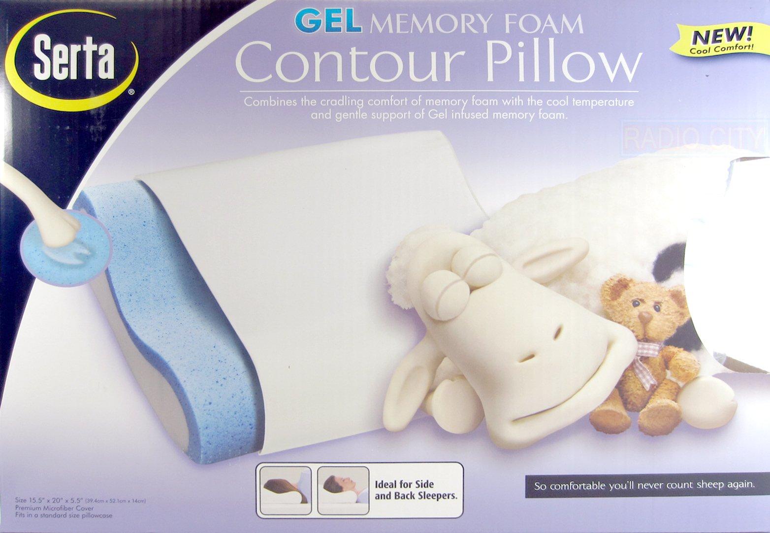 Serta Gel Memory Foam Contour Pillow - Standard Size