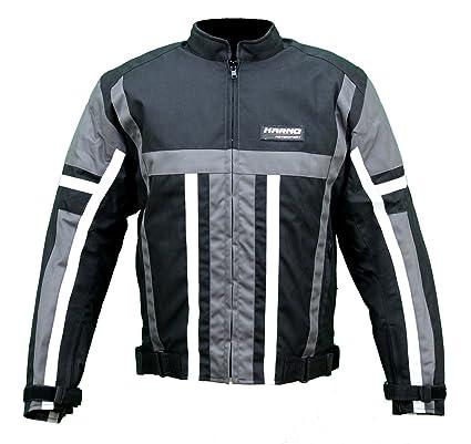 kt008 chaqueta textil Moto Quad Negro/Gris Karno Weapon – Forro Invierno extraíble