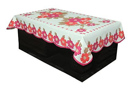 e1a0cce8708 Image Unavailable. Image not available for. Colour  Kuber Industries™ Center  Table Cover Cream Cloth Net for 4 Seater 40   60 Inches
