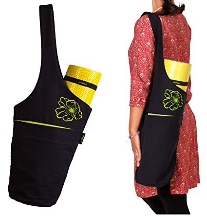 hykarma Yoga Mat Bag Set-Yoga Mat Tote Sling Carrier-Fits Most Size Mats