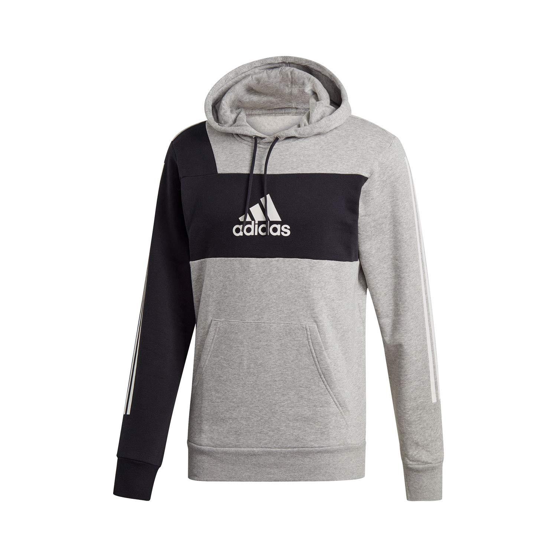 Medium gris Heather noir FR   2XL (Taille Fabricant   2XL) adidas M Sid Po Brnd Sweat-Shirt Homme