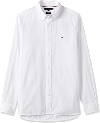 Tommy Hilfiger MW MW0MW12169 - Camisa para hombre YBR White ...