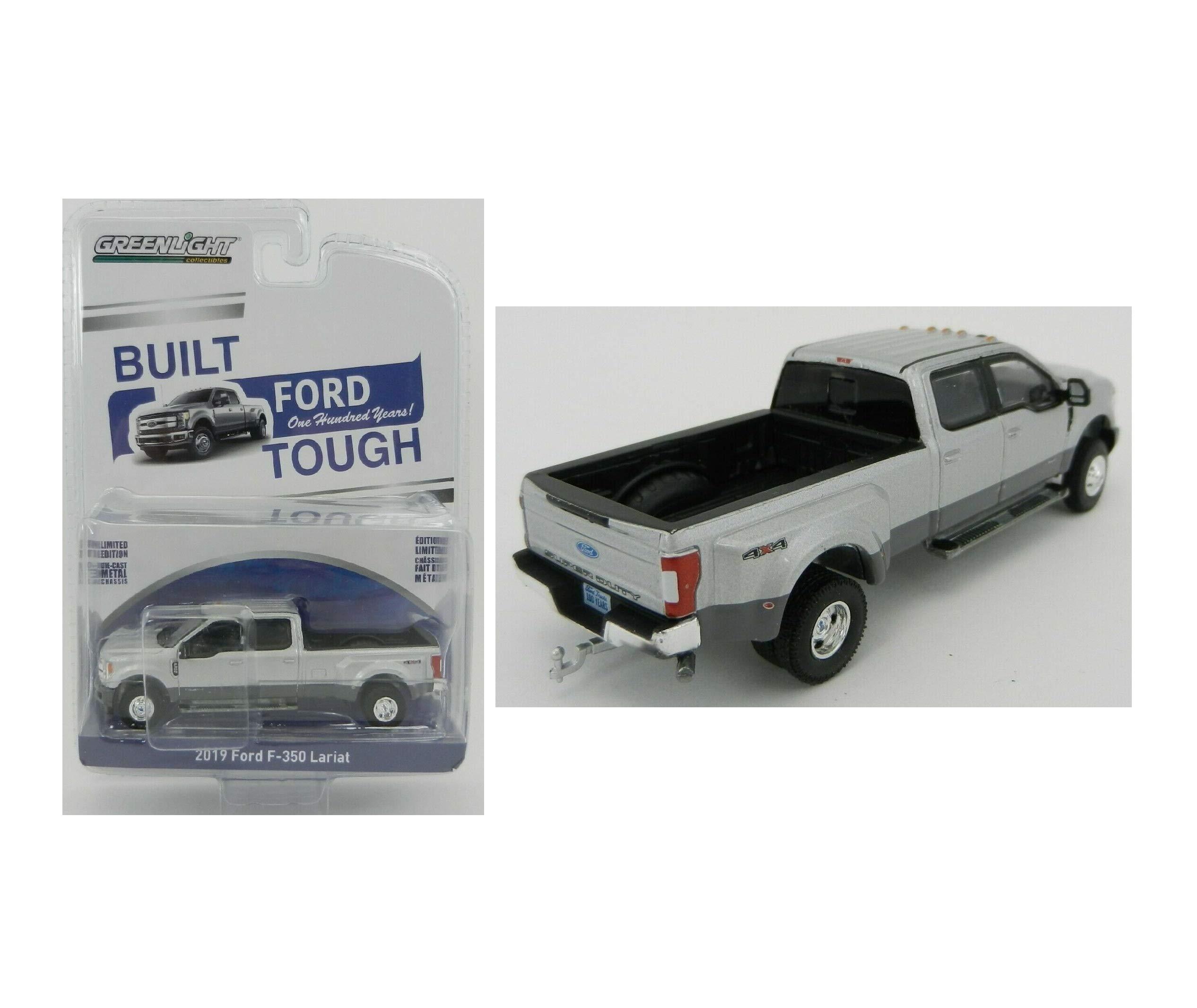 2019 ford f-350 lariat-dually Big Truck ** GreenLight Anniversary 1:64 nuevo