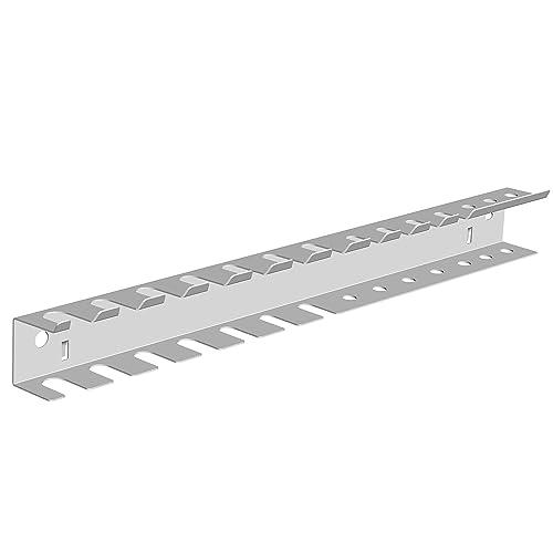 Element System 11412-00002 Porte-outils à double rangée pour panneau de rangement à outils perforé Blanc