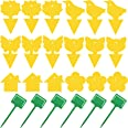 18 Pack Fruit Fly Trap Yellow Sticky Fungus Gnat Killer for Indoor and Outdoor Plant Insect Catcher for White Flies Mosquitos