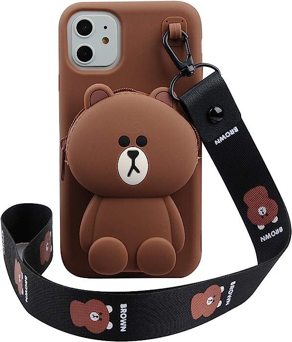 Phenix Color Cartoon Bear Case for iPhone 11 6.1