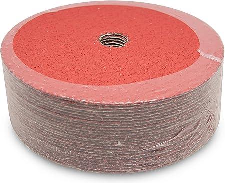 25 Pack 5 x 7//8 Premium 60 Grit Ceramic Resin Fiber Discs