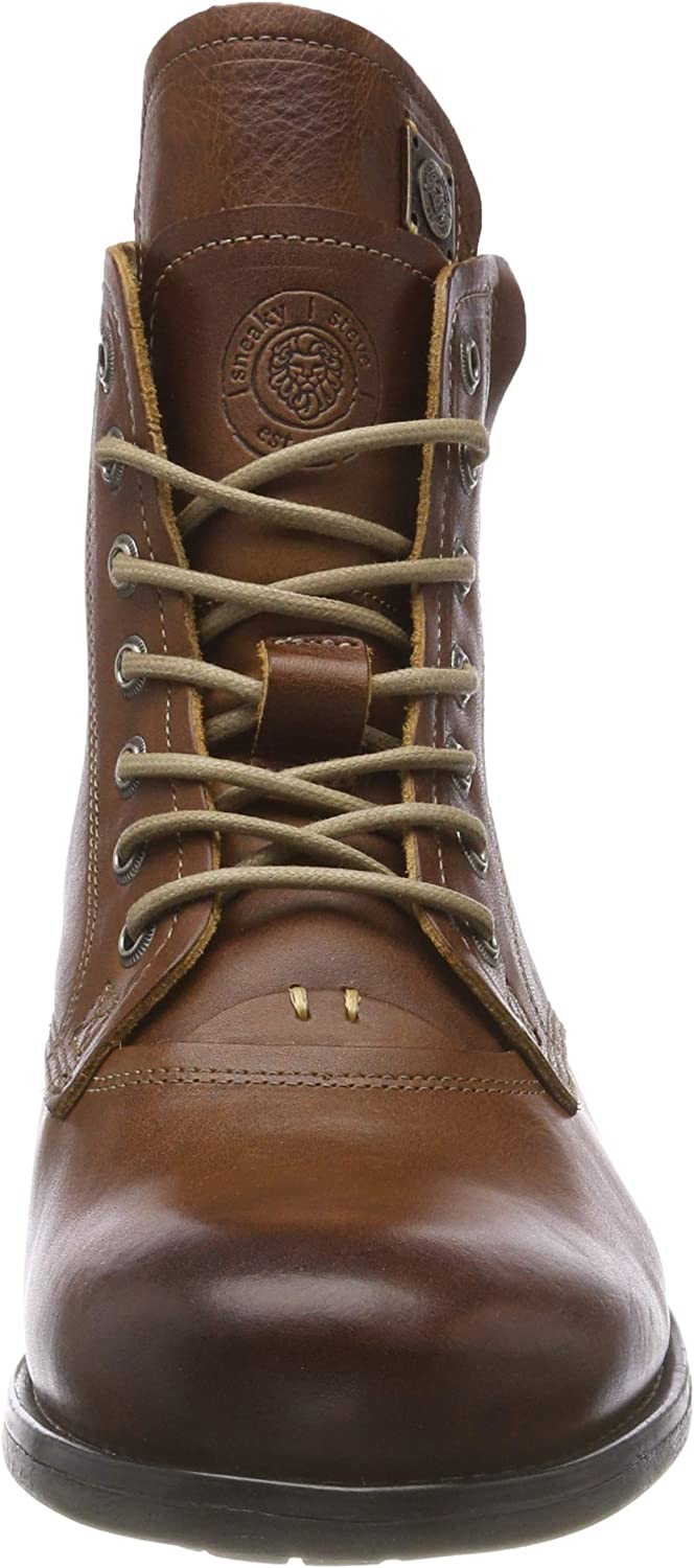 Sneaky Steve Kingdom Mens Cognac Leather Casual Boots