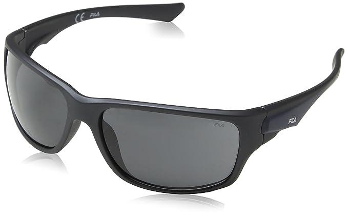 Fila Gafas de Sol para Hombre, Gris (Rubberized Pearl Dark Grey), 63