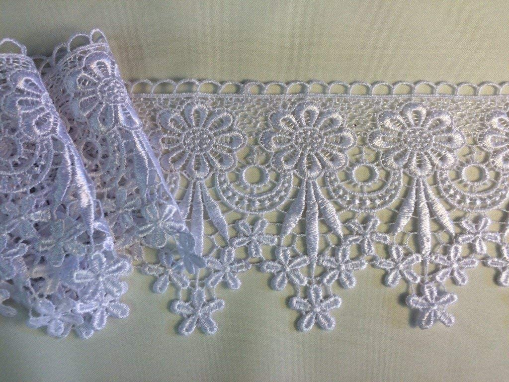 5//8 inch wide ivory color 1 yard and 16 inch cut Venise Lace