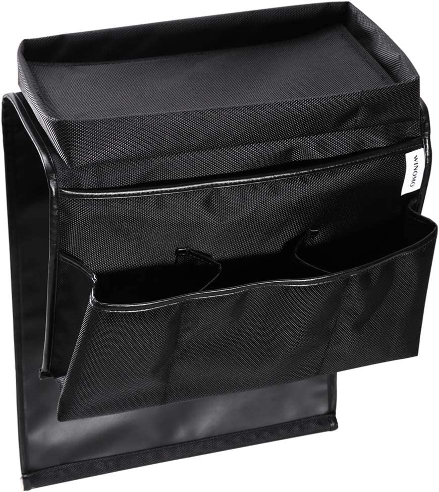 nero WINOMO divano bracciolo organizer divano poltrona da appendere borsa di stoccaggio per telecomando TV il cellulare Magazine libri