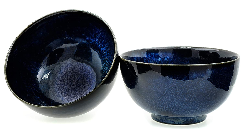 GOTO Japanese Moon Shimmer bowls 17.0 cm X2