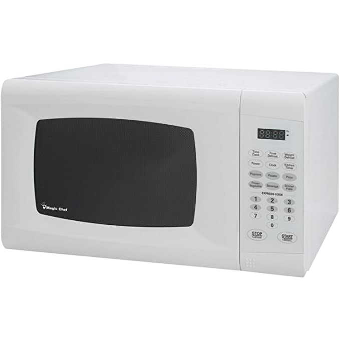 Magic Chef MCM990W 0.9 Cu. Ft. 900W Countertop Oven in White Microwave