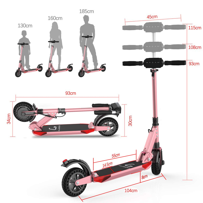 Scooter electrico-Patinete electrico Adulto Ajustable la Altura Rango de 30KM Dise/ño de f/ácil Transporte Ultraligero Plegable motorizado E Scooter 30km//h,8.5 Scooter Velocidad m/áxima 18.8MPH