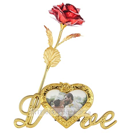 0a2f24ecd83a INTERNATIONAL GIFT Valentine Gift Red Rose and Photo Frame Stand with  Beautiful Carry Bag (25 cm