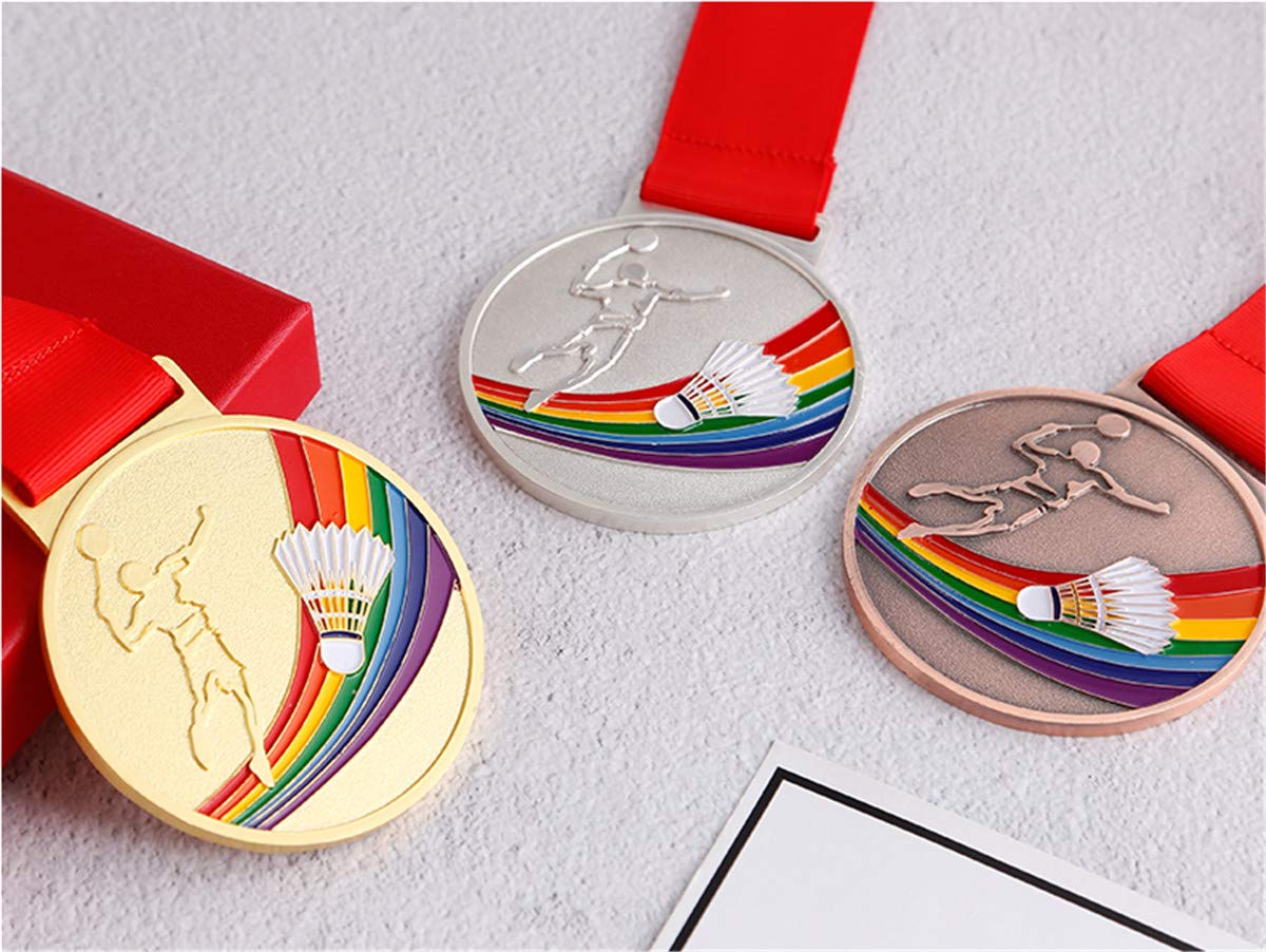 Zzooi Custom Basketball Match Winner Medals Gold Silver Bronze with Ribbon Set of 3