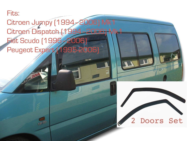 Lot de 2 d/éflecteurs dair pour Citro/ën Jumpy Dispatch Evasion MK1 1994-2006 Fiat Scudo Peugeot Expert Am/énagement Int/érieur
