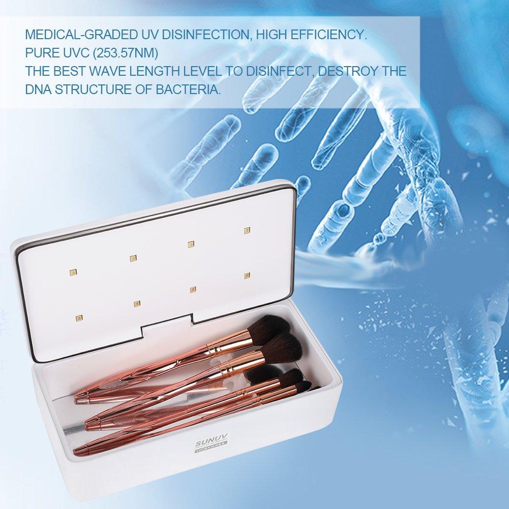 UV LEDEsterilizador, 235 * 108 * 75.5mm Desinfección Herramienta de Cosméticos y Necesidades Diarias: Amazon.es: Bebé