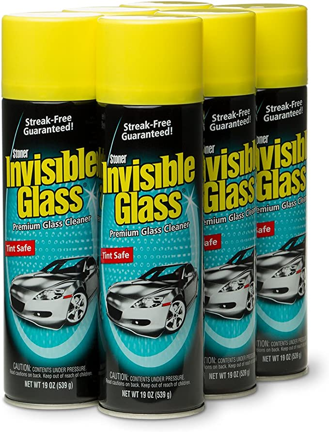 Invisible Glass 91166-6PK Premium Glass Cleaner, 114 fl. oz, 6 Pack
