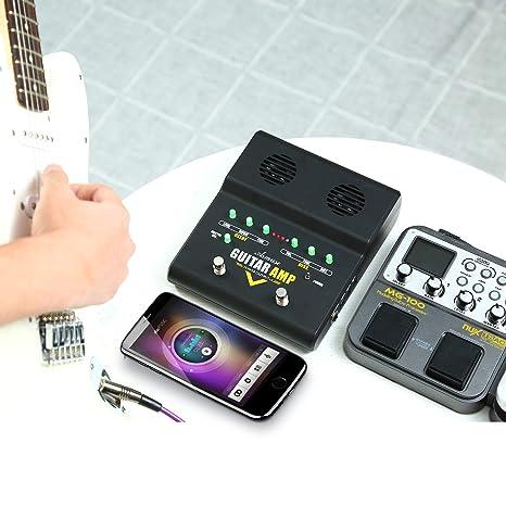 Asmuse Amplificador de Guitarra Eléctrico Bajo Combo Instrumentos Mini Amplificador Práctica Para Guitarra Acústica 5W