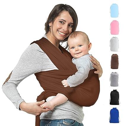 Portabebés, portabebés elástico para recién nacidos, cabestrillo en ...