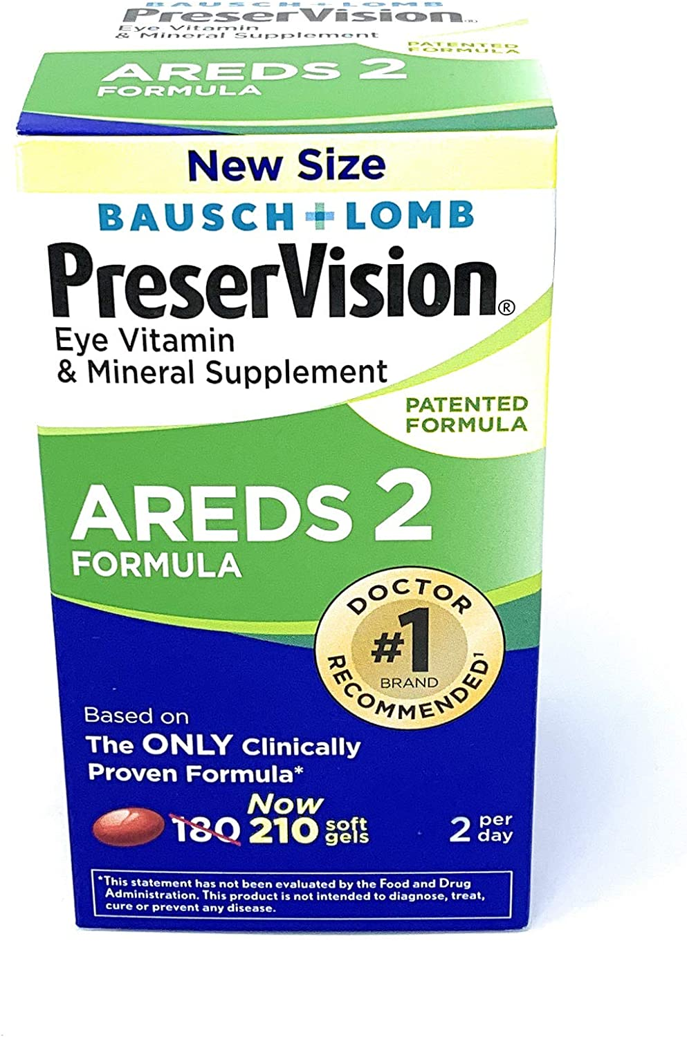 PreserVision AREDS 2 Vitamin & Mineral Supplement 210 Count Soft Gels