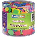 Creativity Street Wonderfoam Assorted Shape Decorative Foam Shape, Assorted Size, Assorted Color, 0.5 lb Tub, Pack of 3000