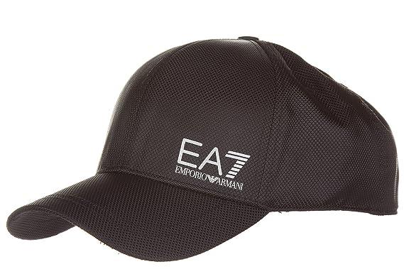 48e2f0391b7 Emporio Armani EA7 Mens Core ID Cap in Black - One Size  Emporio Armani  EA7  Amazon.co.uk  Clothing