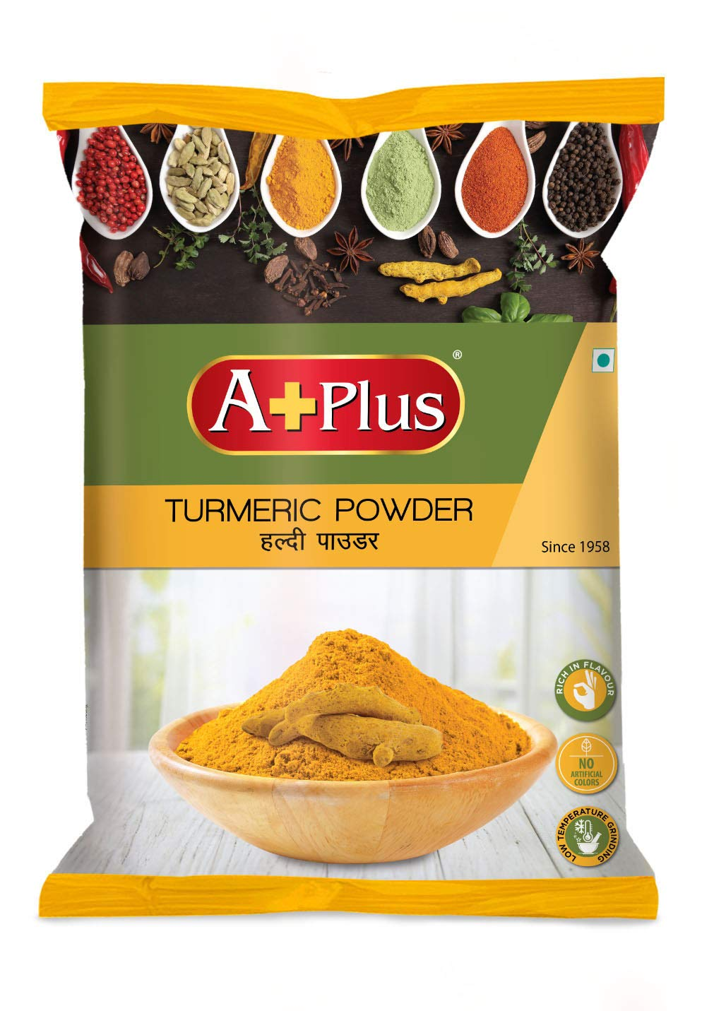 APLUS Turmeric Powder Pouch 2 x 500 g(1Kg)