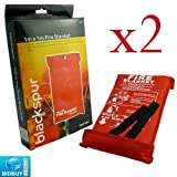2 FIRE BLANKETS - 1M x 1M - IDEAL FOR KITCHENS, HOMES & CARAVANS