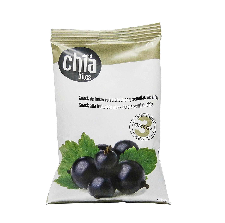 Original chia bites- Snack saludable, con frutas del bosque, sin ...