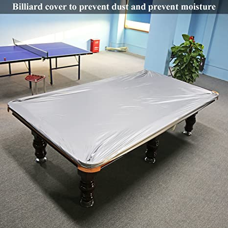 Genial NKTM Billiard Table Cover Pool Table Cover Waterproof PVC Cover For 9 Foot Pool  Table, Silver