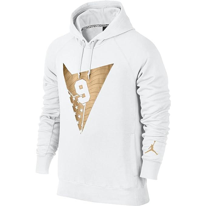 Air Jordan 7 Pullover Men s Hoodie White Gold 835380-100 (Size 4X ... d1a0bffd128a
