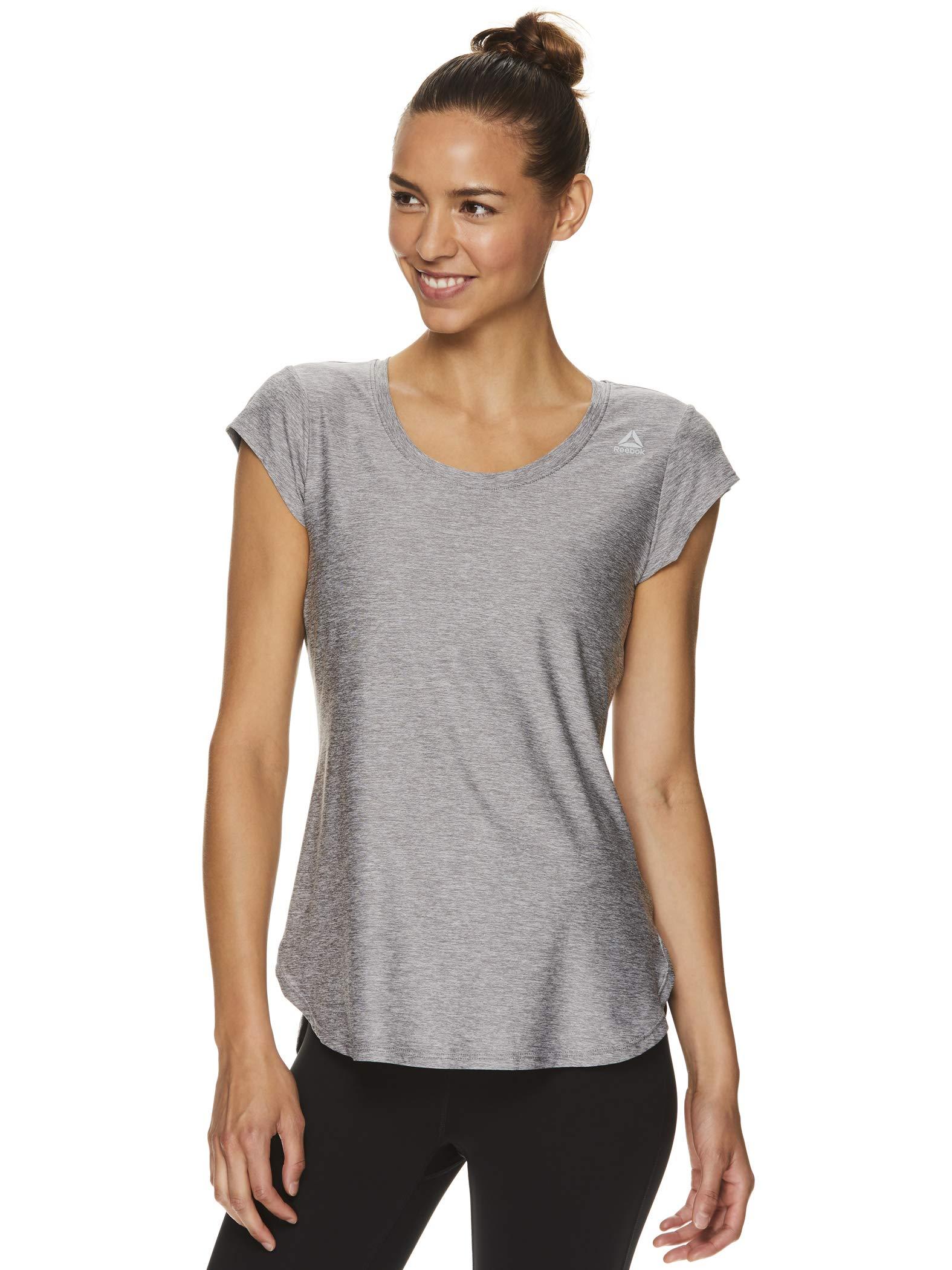 Reebok Women's Legend Running & Gym T-Shirt - Performance Short Sleeve Workout Clothes for Women - Quietshade Heather Legend Grey, X-Small by Reebok