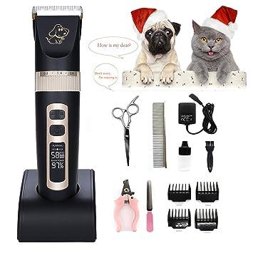 [2019 Cerámica Cortapelos Profesional para Perros Mascotas Gatos, Electrico Cortapelos Perros con Alta Capacidad