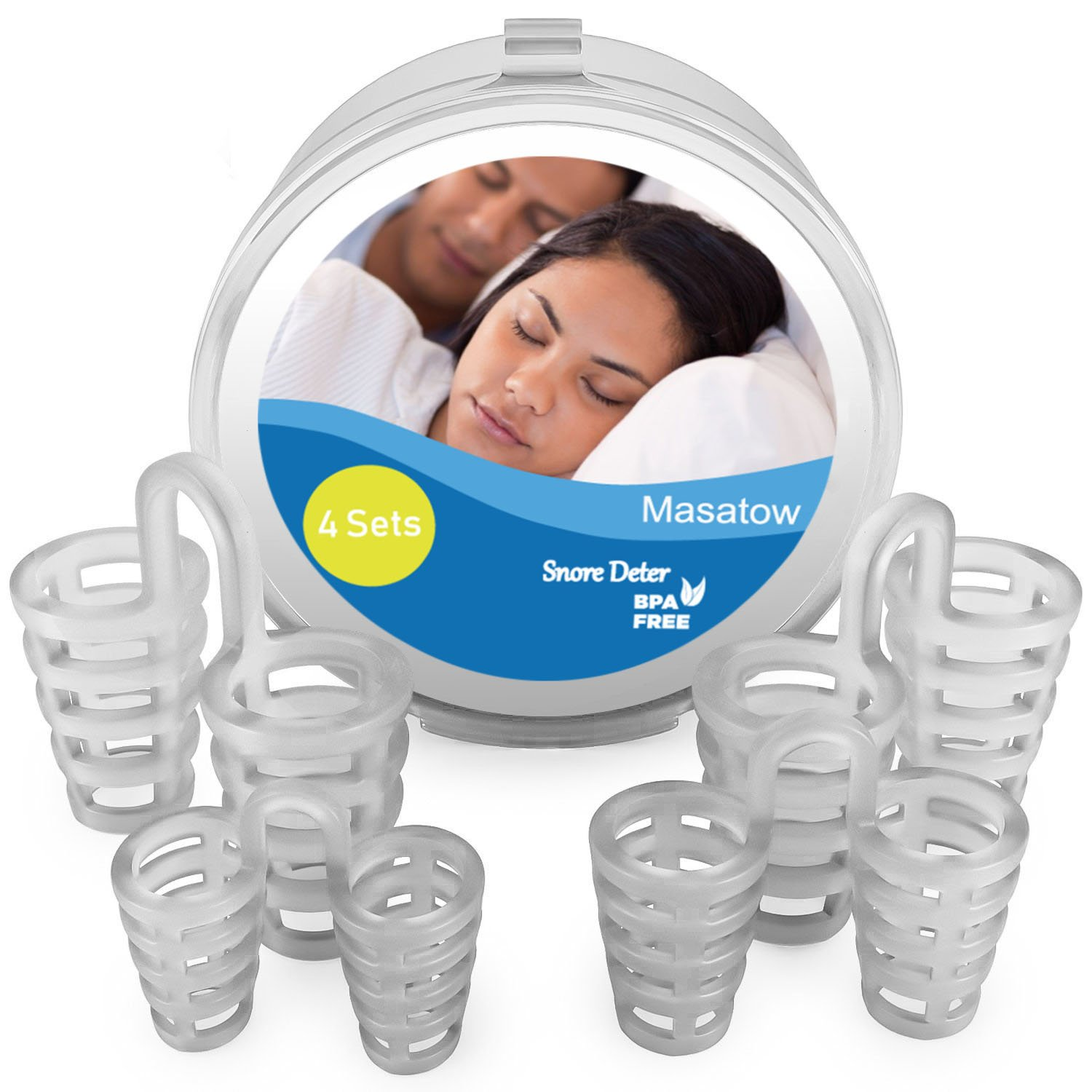 Snore Stopper,Masatow Anti Snoring Solution Stop Snore Nose Vents Sleep Aid Device for Snoring and Natural Breathing