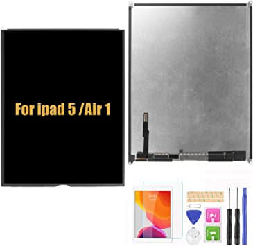 A-MIND Screen Replacement for iPad 5 2017 9.7inch A1822 A1823(Not for Air 1) LCD Display and Touch Screen digitizer with Home Button /& Free Tool Repair Kit /& Screen Protector White