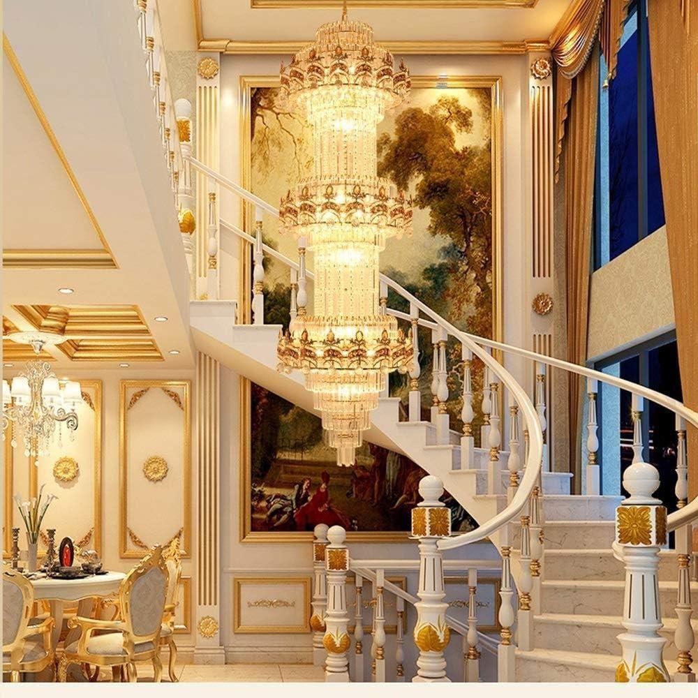 Lámpara de estilo Villa Sala de estar Cristal Botón pulsador Bombilla incandescente E14 para Villa Clubhouse Escaleras-400 * 1650Mm Hermoso: Amazon.es: Iluminación