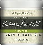 Piping Rock 100% Pure Babassu Seed Skin & Hair Oil 7 fl oz (118 mL) Jar
