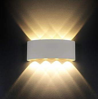 Wandleuchten Moderne IP65 Wasserdicht 8W LED Wandleuchte Innen Aluminium  Wandbeleuchtung Oben Unten Dekorative Wandlampe Für Wohnzimmer